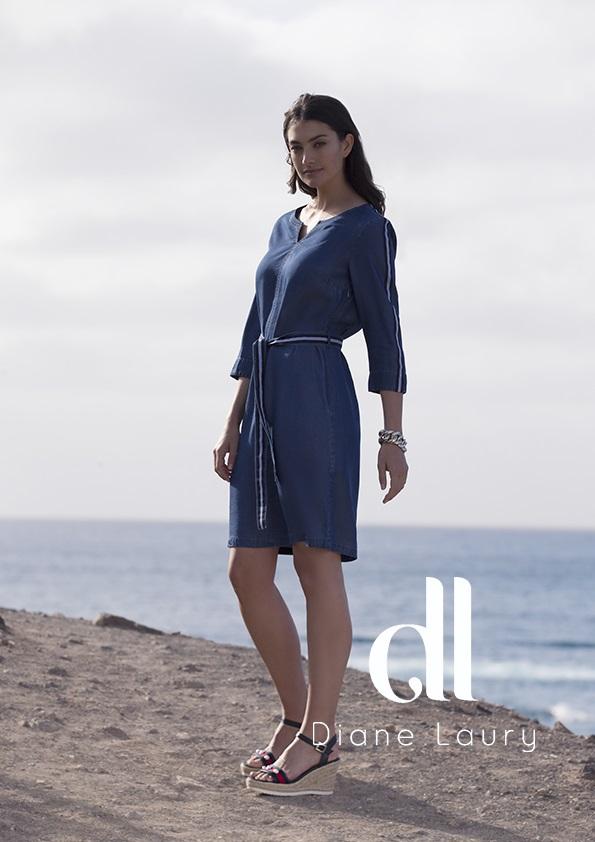 robe bleu jean lyocel diane laury - Robe bleu jean lyocell Diane Laury